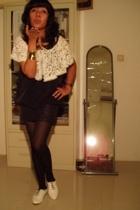 hanmade top - random brand dress - vintage accessories - random find tights - pe