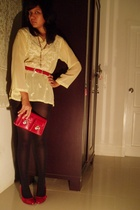 random from India top - from SF belt - Mango purse - Zara shoes - random from Ho