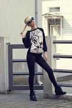 Choies jumper - Boohoo sunglasses - Choies sneakers