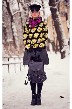 black OASAP hat - yellow OASAP sweater - dark gray OASAP sunglasses