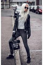 silver Lovelywholesale sweater - black Lovelywholesale bag