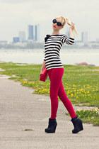 Vila top - Stradivarius boots - Zara jeans - Boohoo sunglasses