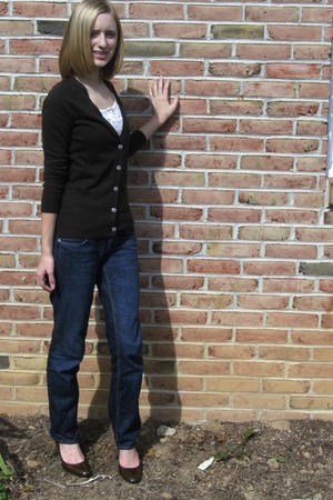 Old Navy sweater - Aeropostale top - American Eagle jeans - bought at Marshalls