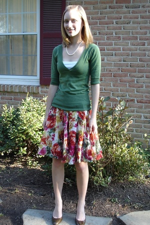 Mossimo for Target sweater - Forever21 skirt - shoes - I made it necklace