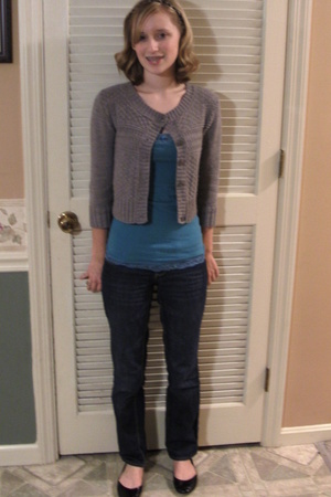 Charlotte Russe sweater - Aeropostale top - American Eagle jeans -  shoes