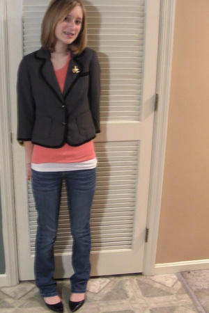 Old Navy blazer - Old Navy shirt - American Eagle jeans - American EaglePayless