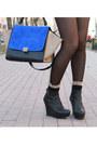 Orange-zara-blazer-black-aldo-boots-blue-celine-bag-black-h-m-shorts