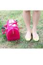 Chartreuse-summer-dress-kate-spade-dress-hot-pink-jelly-bag-furla-bag