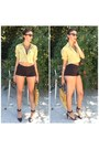 Mustard-carpet-70s-bag-thrift-store-bag-black-forever-21-shorts