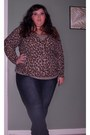 Navy-skinny-jeans-jeans-brown-leopard-print-cardigan-camel-cotton-tank-top