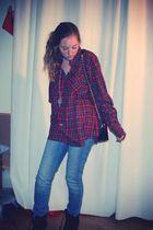 red vintage shirt