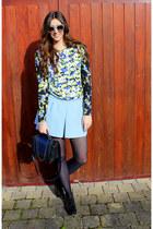 dogtooth Zara sunglasses - leather H&M Trend bag