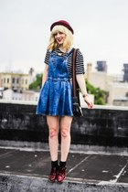 light blue asos dress - red asos loafers