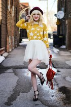 mustard Target sweater - white Chicwish skirt