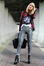 Plaid-heed-blazer-skinny-jeans-h-m-pants