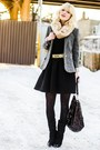 Gray-zara-blazer-black-moschino-belt