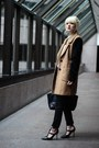 Camel-urban-outfitters-coat-black-bcbg-heels