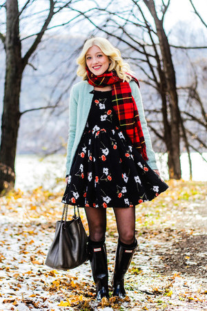 Kate Moss for Topshop dress - Nordstrom jacket - H&M scarf