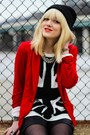 Red-zara-blazer-black-nine-west-boots