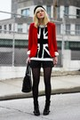 Black-nine-west-boots-red-zara-blazer