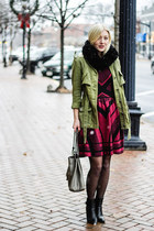 Anthropologie jacket - francescas dress - Gucci bag