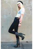 black Jeffrey Campbell boots - black skinny jeans Cheap Monday jeans