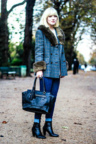 vintage coat - Minelli boots