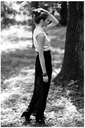 light blue H&M shirt - black Bershka skirt