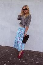 Dorothy Perkins skirt - H&M shirt - deezee heels