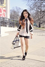 Black-and-white-forever21-jacket-black-and-white-jason-wu-for-target-bag