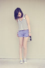 Heather-gray-converse-shoes-periwinkle-forever-21-shorts