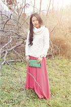 flowy Anthropologie skirt - military Kelsi Dagger boots - Vivienne Tam sweater