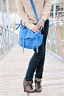 Neutral-eight-sixty-top-navy-forever-21-jeans-blue-cooperative-bag