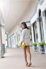 Lace-zara-shorts-neon-yellow-kate-spade-bag-studded-collar-zara-blouse