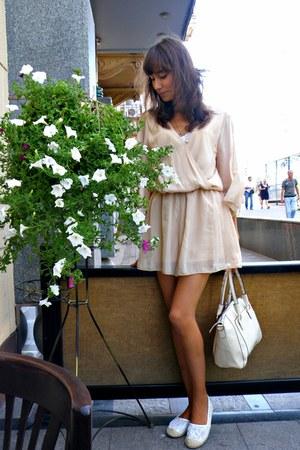 off white AmiClubWear bag - white AmiClubWear flats - beige AmiClubWear romper
