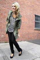 green Spotted Moth jacket - black RW&CO pants - white H&M top - black le chateau
