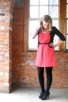 Old Navy dress - black vintage shoes - black Joe Fresh belt - black active basic