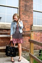 H&M dress - black payless shoes - black Aldo purse - blue Old Navy jacket
