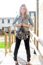 blue Old Navy jacket - black Angel Premium jeans - black payless shoes - Vero Mo