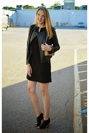 black ann taylor dress - black RAISON dETRE jacket - beige calvin klein bag