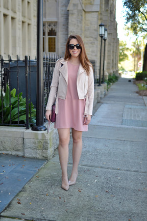 Forever 21 dress - Forever 21 jacket - Rebecca Minkoff purse