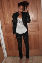 homemade jeans - asos jacket - Forever 21 top