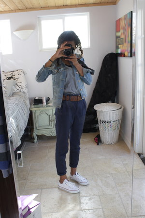 H&M jacket - Converse sneakers - H&M pants - abercrombie and fitch belt - Urban