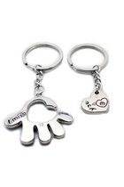1 Pair Hand and Heart Cute Couple Keychain Love Keychain Key Ring