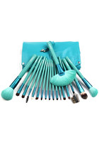 Professional Blue 18 pcs Makeup Comestic Brushes Set Tools with Pounch
