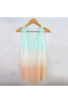 Street-chic Sexy Tie Dye Gradient Color Semi-sheer Shirt Muscle Vest - See more