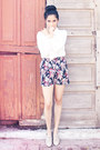 Beige-unknown-shoes-navy-diy-shorts-ivory-blouse-sugarlips-blouse