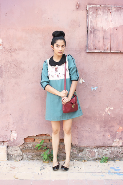 cotton Club Culture dress - Forever 21 bag - cotton DIY necklace