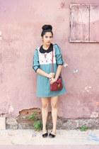 cotton Club Culture dress - Forever 21 bag - cotton DIY necklace
