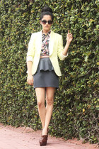 charcoal gray unknown unknown brand skirt - brown leather unknown brand shoes